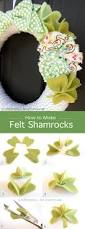 st patrick u0027s day shamrock wreath tutorial wreaths felting and