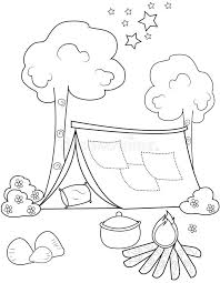 tent coloring page eliolera com