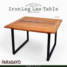 vintage wood desk la la life rakuten global market table w iron wood center table