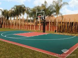 Backyard Basketball Half Court Versacourt Backyard Basketball Court Photos U0026 Ideas