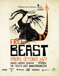free the beast halloween party in the heart of the beast puppet