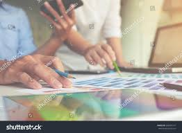Designing A Desk by Graphic Design Color Swatches Pens On Stock Photo 566557141