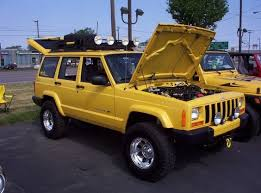 baby ditto u0027s soon to be new paint job yellow jeep cherokee