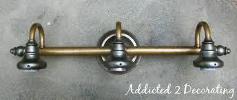 Spray Painting Brass Light Fixtures Brass Bathroom Light Fixtures Visionexchange Co