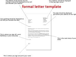 28 formal template letter formal letter template samples
