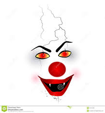 scary halloween white background scary face clown on the white background stock photo image