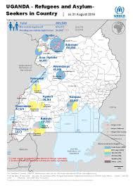 Burundi Map Document Unhcr Uganda Refugee Population Map August 2016