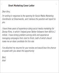 short cover letters 9 free word pdf format download free