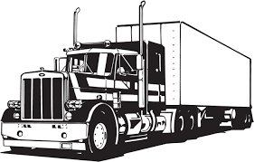 coloring pages of trucks and trailers
