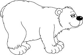 polar bear clipart black and white pencil and in color polar
