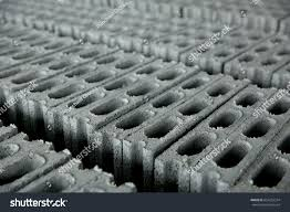 concrete block cinder blocks breeze blocks stock photo 654233314
