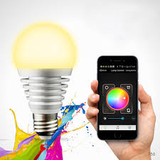 light bulbs controlled by iphone bluetooth led rgb smart light e27 bulb smartphone controlled