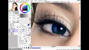 how to change eye color in painttool sai speed tutorial youtube