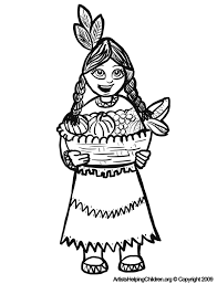 thanksgiving indian girls coloring pages printouts u0026 turkey
