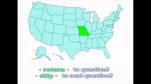 Map Of United States Quiz by Interactive United States Map Quiz Location Of Missouri Youtube