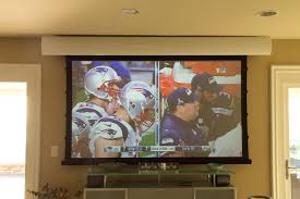 Projector In Bedroom Supersize Your Super Bowl Party With A Bright Room Projector