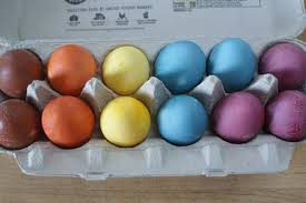 how to dye easter eggs with food