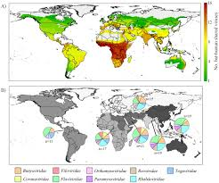 Population Map Of Africa by Map Shows Hotspots For Bat Human Virus Transmission Risk