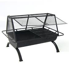 Firepit Grille by Sunnydaze 36 Inch Northland Grill Fire Pit With Protective Cover