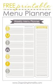 the 25 best weekly menu printable ideas on pinterest menu