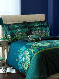 Teal Duvet Cover Glamour Teal Luxury Reversible Printed Duvet Cove Bedding Uk