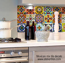 mexican tiles for kitchen backsplash tile decals talavera fully waterproof and scratch resistant www