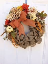 fall burlap wreath thanksgiving wreath rustic by theclassygoose