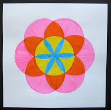 rangoli patterns using mathematical shapes compass mandalas teachkidsart