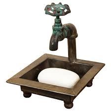 amazon com primitive country faucet spigot bath soap dish kitchen