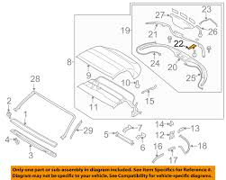 nissan 350z convertible top nissan oem 04 09 350z convertible soft top catch 97093ce40a