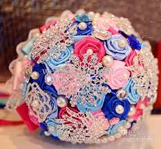 how to make bridal bouquets diy bridal bouquet ribbon brooch creative wedding bouquet