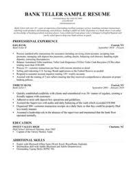 Bank Teller Resume Examples No Experience Bank Teller Resume With No Experience Http Www Resumecareer