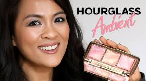 hourglass ambient strobe lighting blush palette hourglass ambient strobe lighting blush palette review youtube