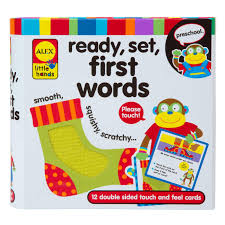 words cards alex toys ready set touch feel flash cards