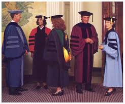 doctoral graduation gown on academic regalia school