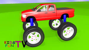 monster trucks video games kidsfuntv monster truck 3d hd animation video for kids youtube