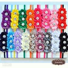 ribbon headbands satin ribbon flower headband with sparking rhinestone