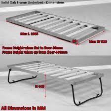 Single Folding Guest Bed Solid Oak 3ft Single Fold Away Pull Out Oak Guest Bed Underbed