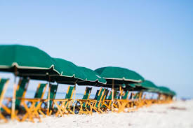 Beach Umbrella And Chairs Seaoats Beach Service