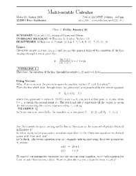 multivariable calculus parametric equations of lines and planes