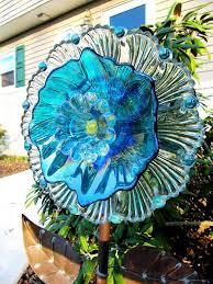 25 unique glass plate flowers ideas on glass garden