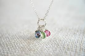 mothers necklace with kids birthstones design children s birthstone necklace