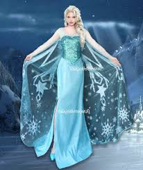 j800 movies frozen snow queen elsa cosplay costume deluxe