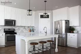 My DIY Marble Backsplash Honeybear Lane - Marble kitchen backsplash
