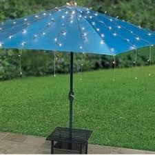 Patio Umbrella String Lights String Lights For Patio Umbrella Blue With Solar Ewakurek
