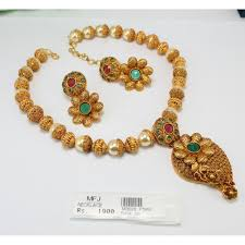 red necklace online images Antique green red stone balls necklace set online m3028p1365 jpg