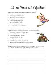 identifying nouns and verbs worksheet free worksheets library