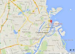 map of copenhagen mermaid on map of copenhagen easy guides