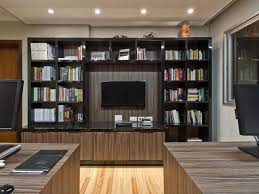 Home Office Bookcase Bookshelf Ideas View In Gallery Simple Design Staggering