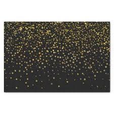 gold foil tissue paper modern black gold foil confetti dots tissue paper